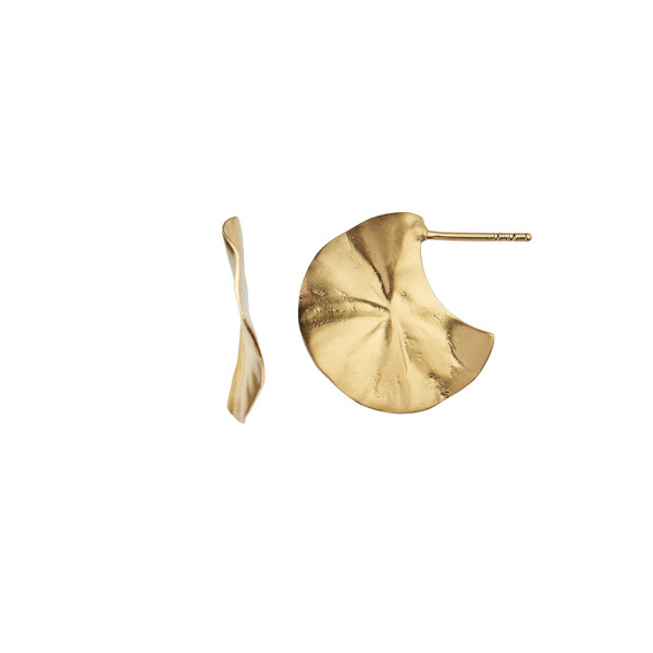 La Feuille Creol Earring Gold