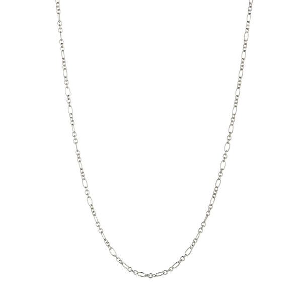 Long Pendant Chain - Figaro Round Silver