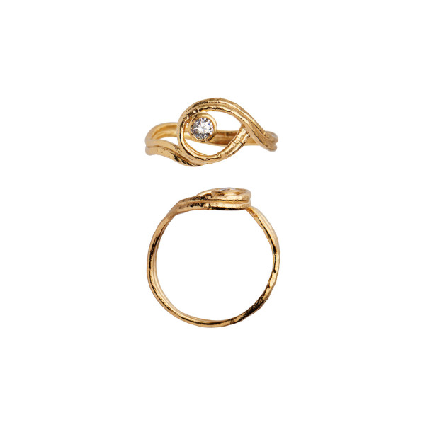 Balancé Ring with Stone Gold