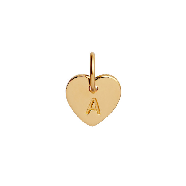 Love Letter Heart Pendant Gold - A