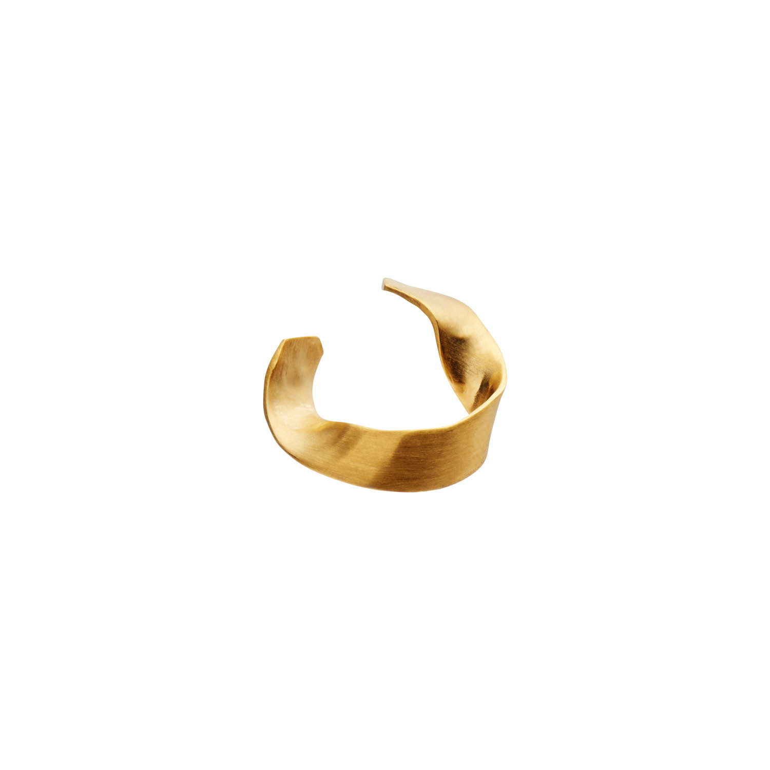 Twisted hammered Ear Cuff Gold