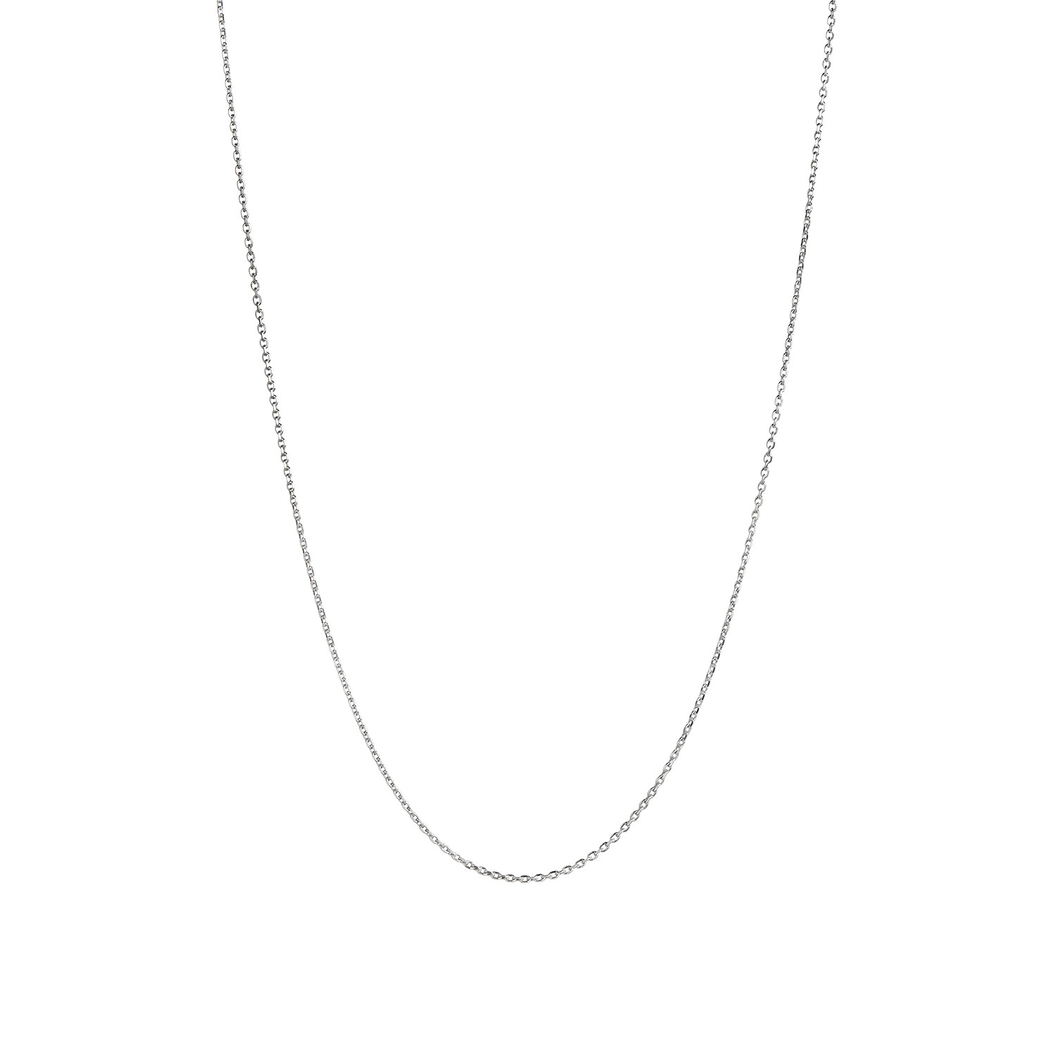 Plain Pendant Chain Short Silver