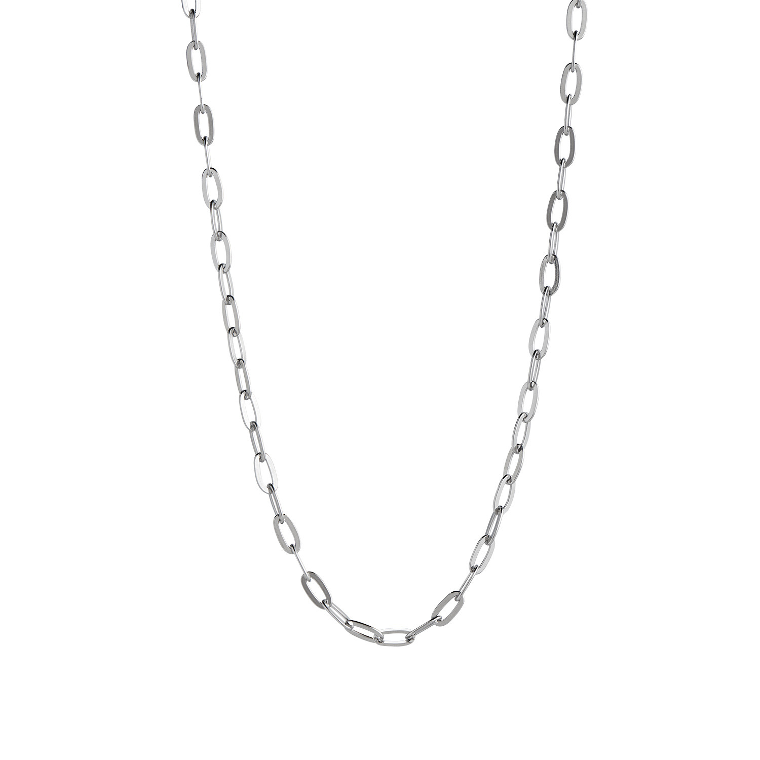 Big Chunky Pendant Chain Silver