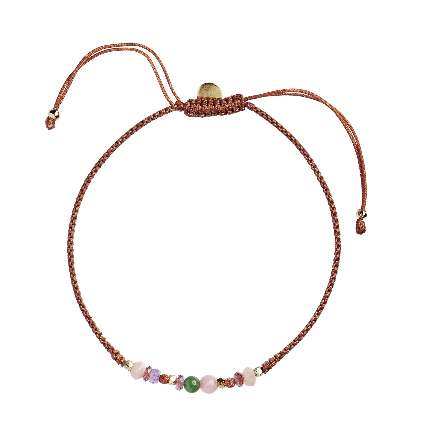 Candy Bracelet - Multi Mix and Rust Ribbon