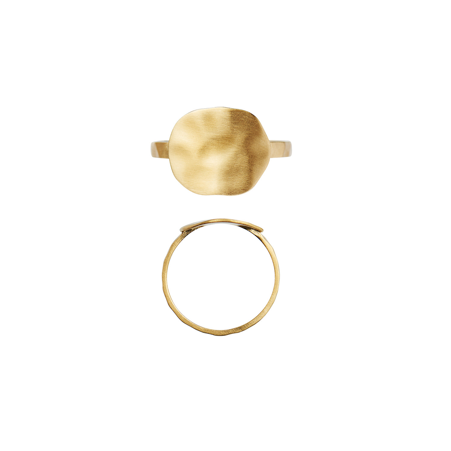 Hammered Coin Ring Gold