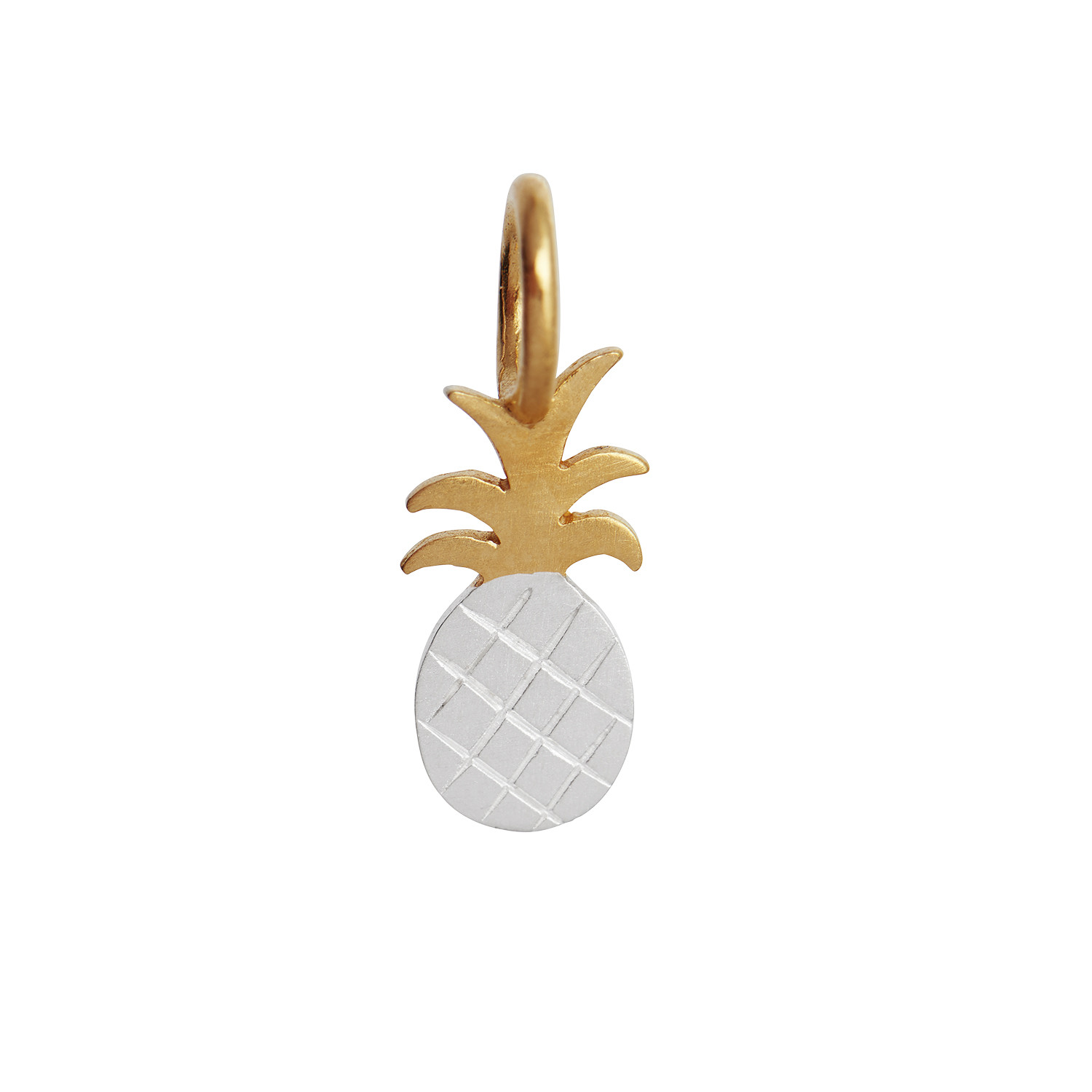 Petit Pineapple Pendant Silver & Gold Mix