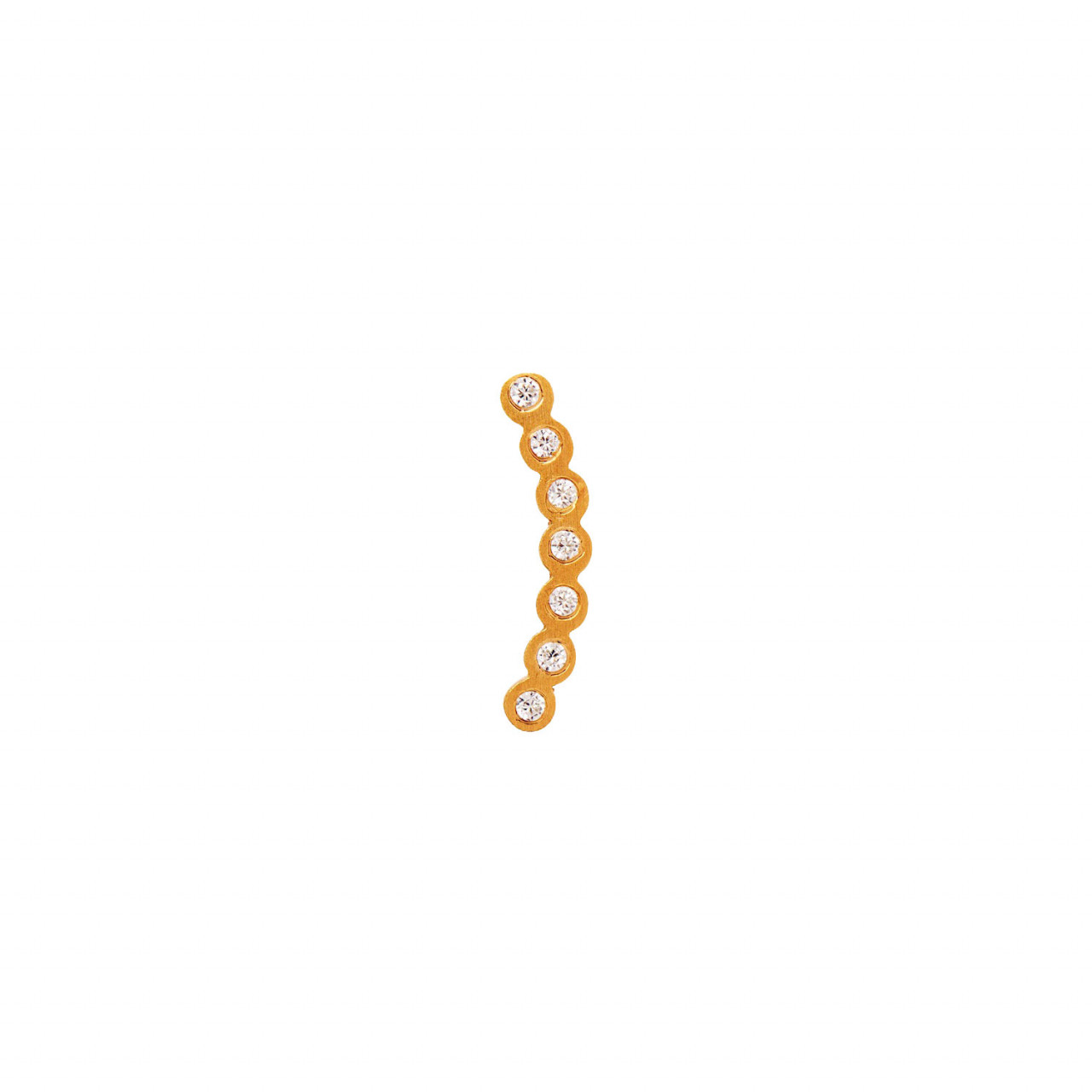 Seven Dots Earring Piece Left Gold