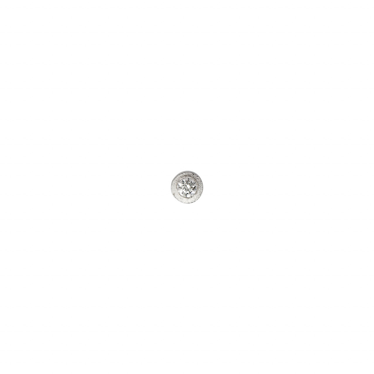 Big Dot Earring Piece Silver