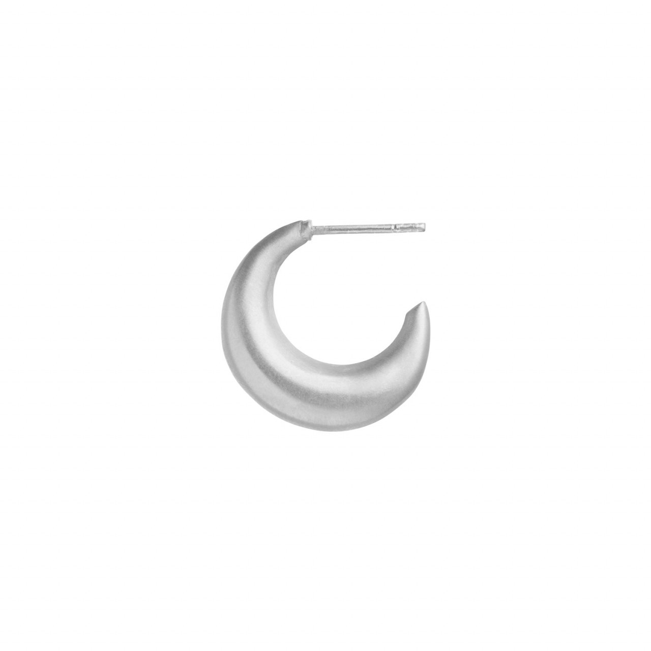 Big Croissant Creol Earring - Silver