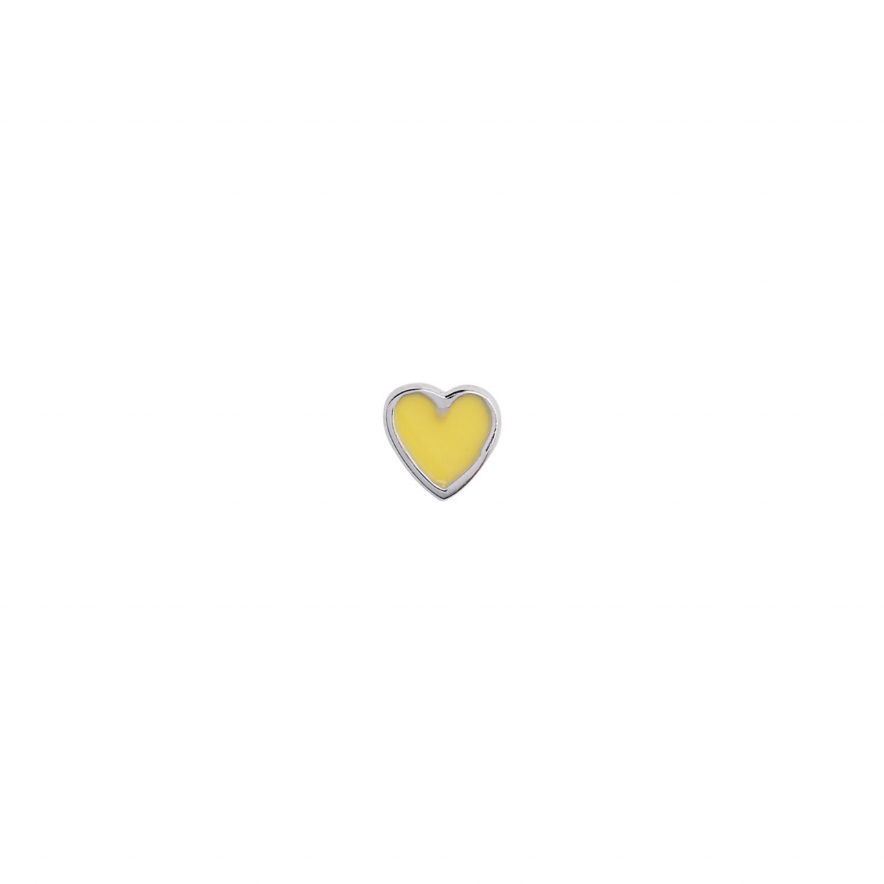 Petit Love Heart Yellow Enamel Silver