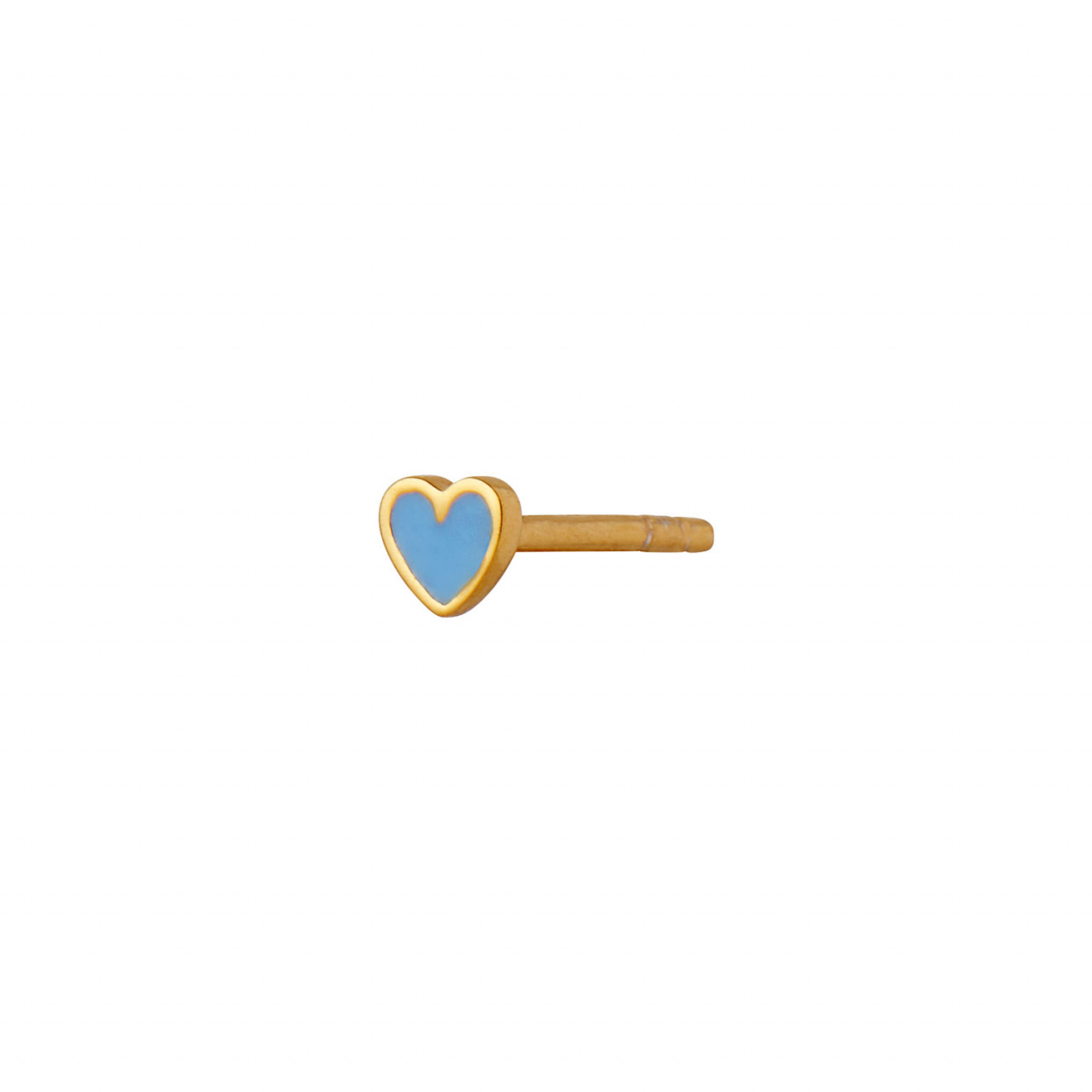 Petit Love Heart Light Blue Enamel Gold