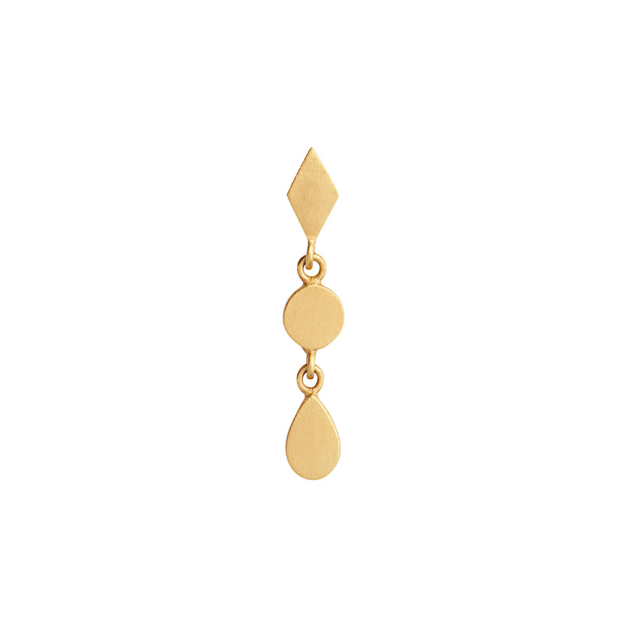 Dangling Petit Silhouettes - Gold w/Harlekin, Coin and Teardrop