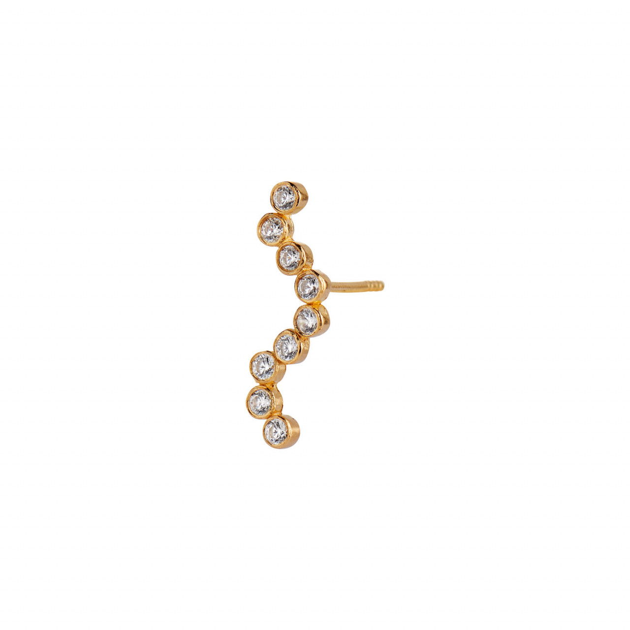 Midnight Sparkle Earring Gold - Right