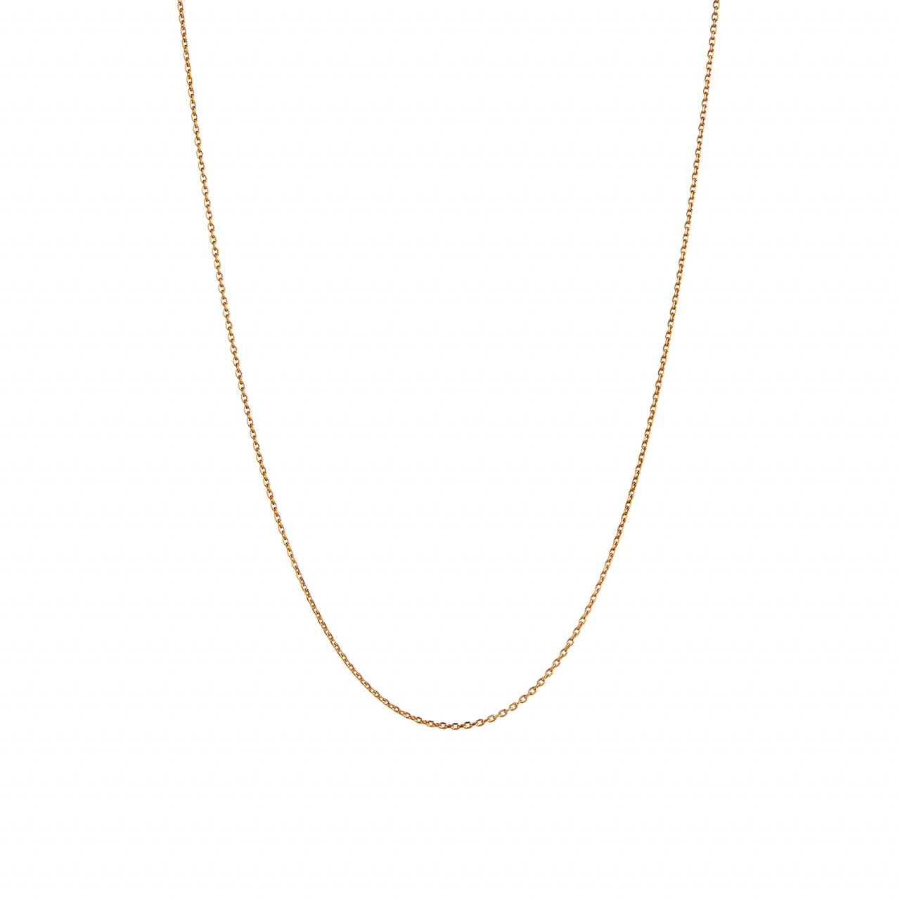 Plain Pendant Chain Short Gold