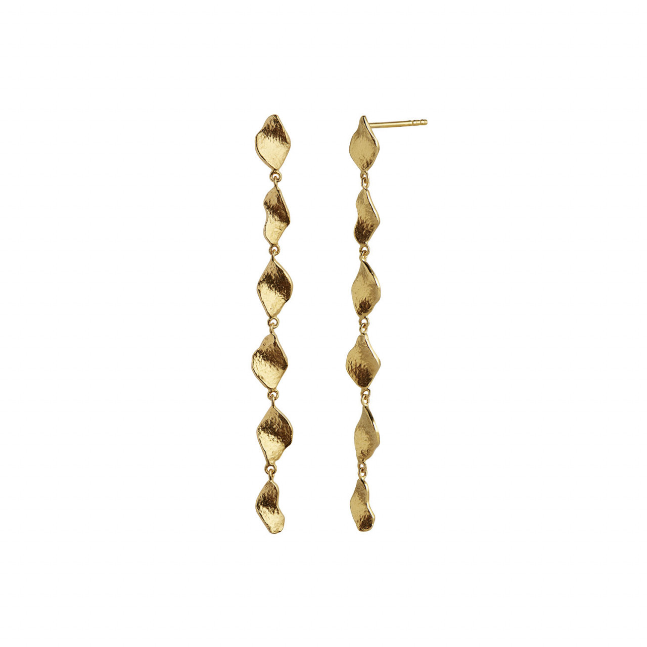 Six Dangling Ile De L'Amour Long Earring Gold
