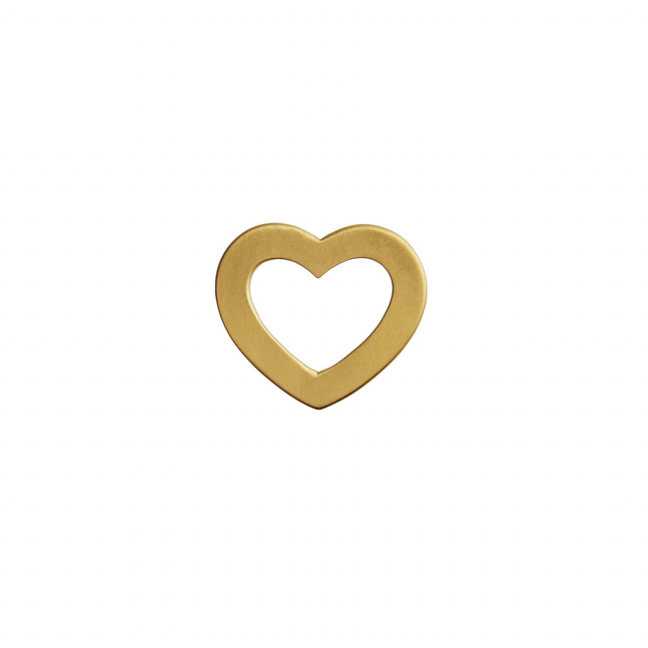 Open Love Heart Pendant Gold
