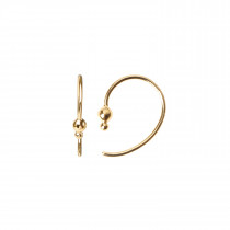 Petit Balloon Open Creol Earring - Gold