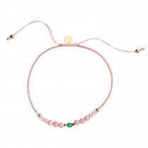 Candy Bracelet - Pink Mix And Soft Pink Ribbon