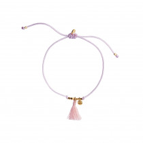 Lucky Bracelet - Lightpurple And Lightcoral - Gold