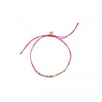 Gold Dust Bracelet - Neon Pink And Coral