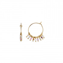 Petit Rainbow Hoop Gold with Stones - Pastel Mix