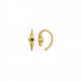 Petit Bon-bon Black Zircon Earring Piece Gold