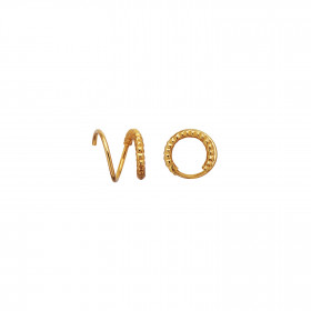 Tinsel Curl Earring Piece Left Gold