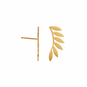 Six Leaves Earring Piece Left Gold
