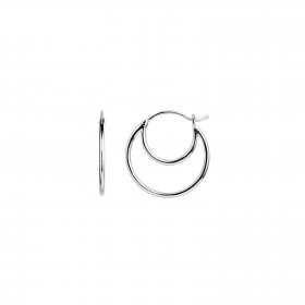 Double Creol Earring Silver