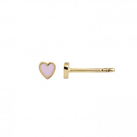 Petit Love Heart Light Pink Enamel Gold