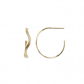 Love Wave Creol Earring Gold
