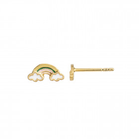 Love Rainbow with Enamel Earring Gold