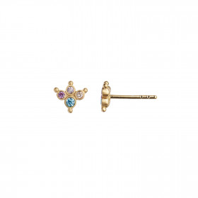 Petit Candy Fleur Earring Gold - Pacific Blue Sorbet