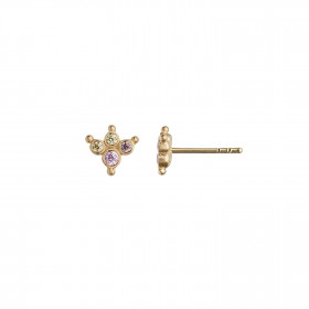 Petit Candy Fleur Earring Gold - Light Pink Sorbet
