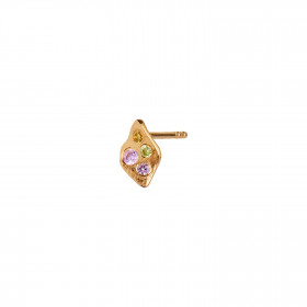 Petit Ile De L'Amour with Stones Earring Gold - Light Pink Sorbet