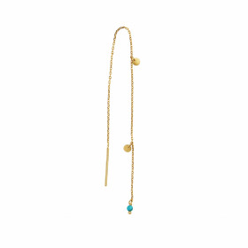 Dangling Petit Coin And Stone - Turquoise