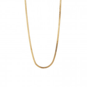 Short Snake Necklace Gold
