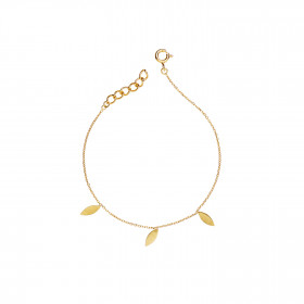 Three Leaves Bracelet Gold