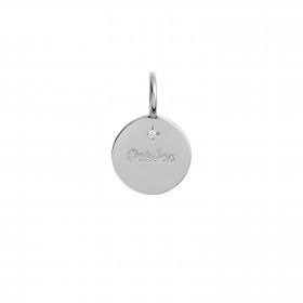 Petit Mois October Pendant - Silver