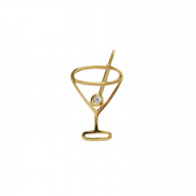 Petit Cocktail Pendant Gold with Stone