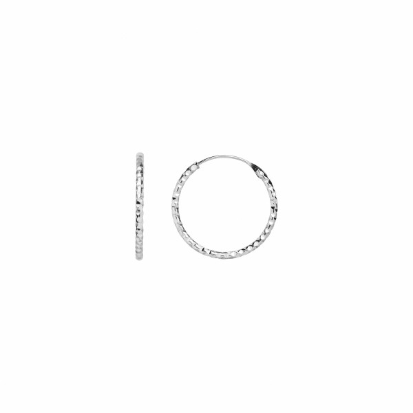 Tinsel Creol Earring Piece silver
