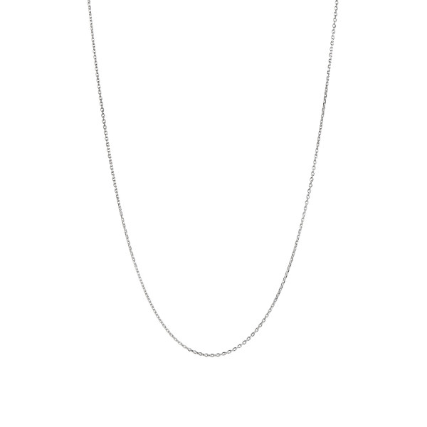 Plain Pendant Chain Long Silver