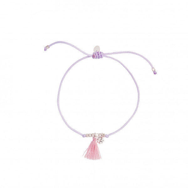 Lucky Bracelet - Lightpurple And Lightcoral - Silver