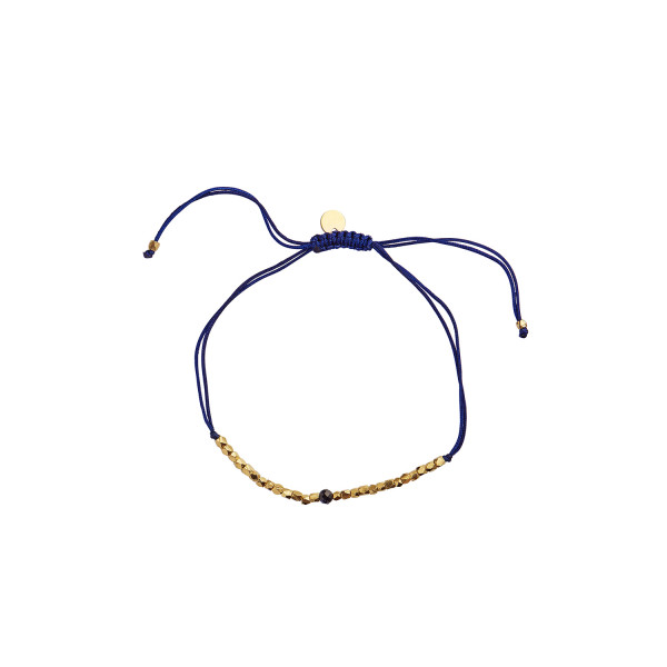 Gold Dust Bracelet - Dark Blue Sand Stone