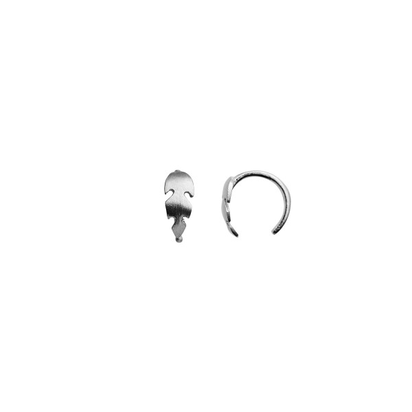 Petit Feather Earring Piece Silver