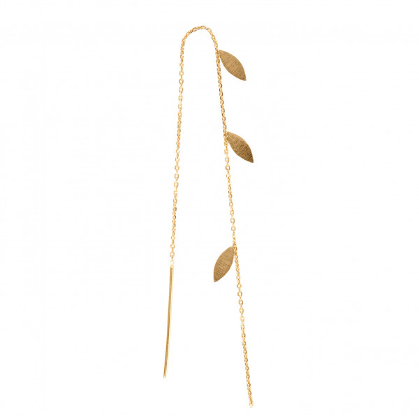 Three Leaves Earring Piece Gold