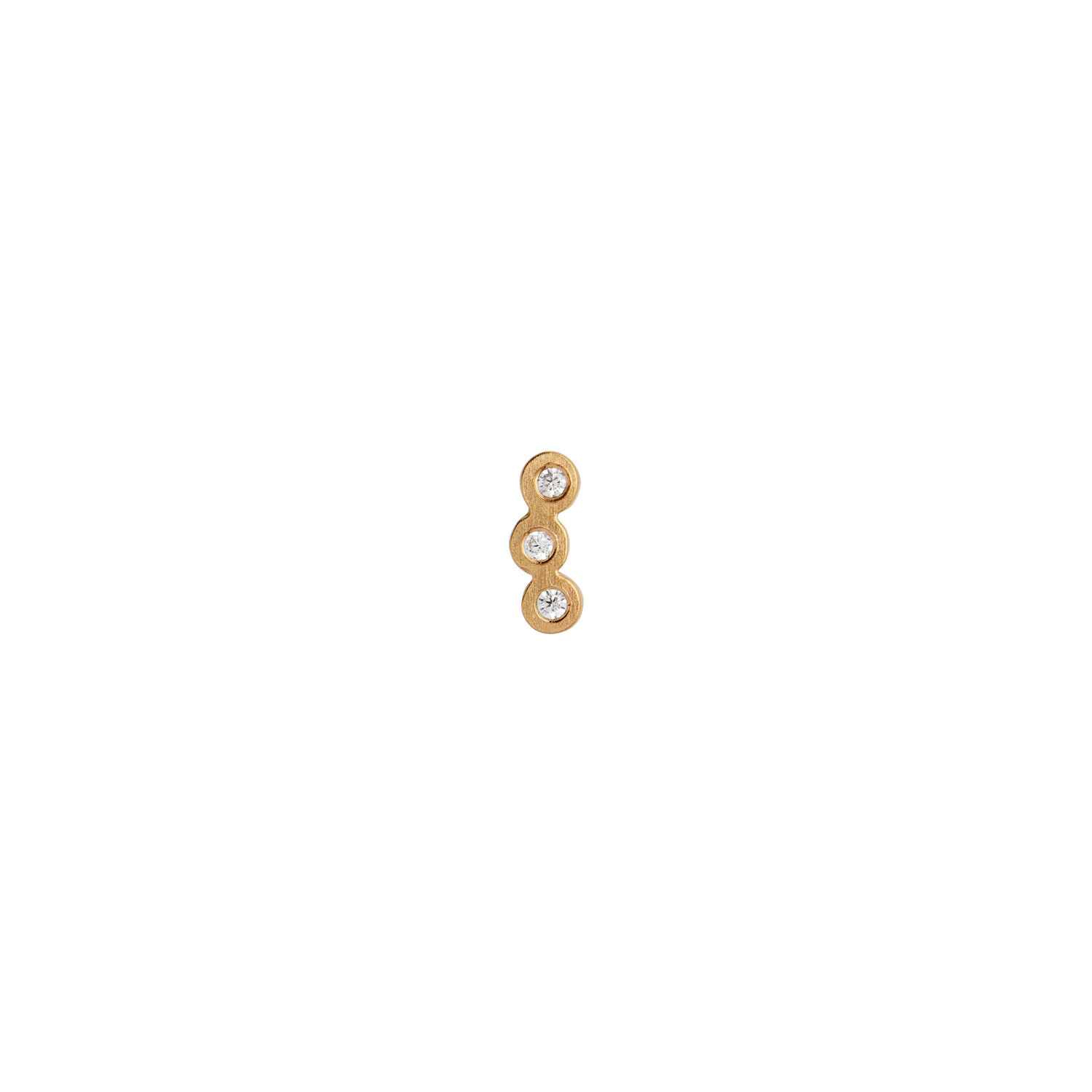 Three Dots Earring Piece Gold