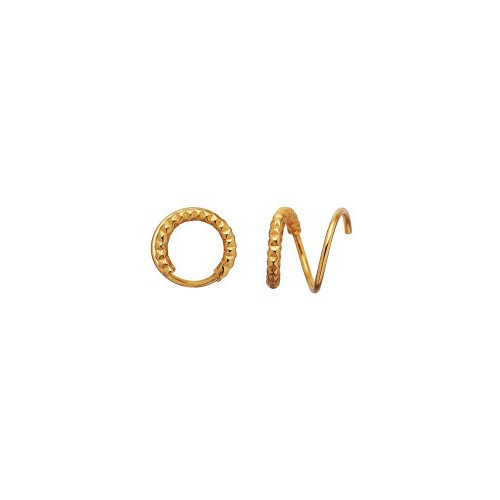 Tinsel Curl Earring Piece Right Gold