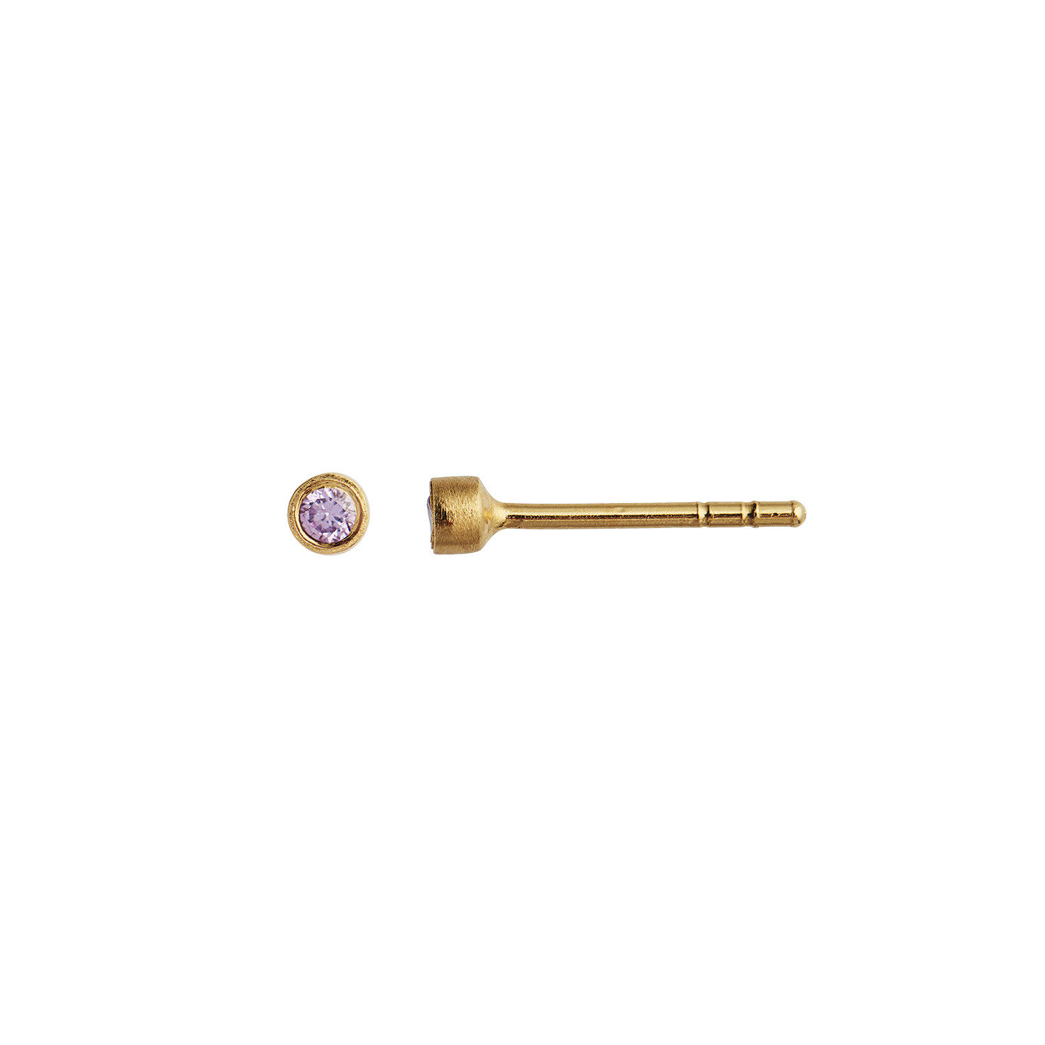 Purple Big Dot Earring Piece Gold