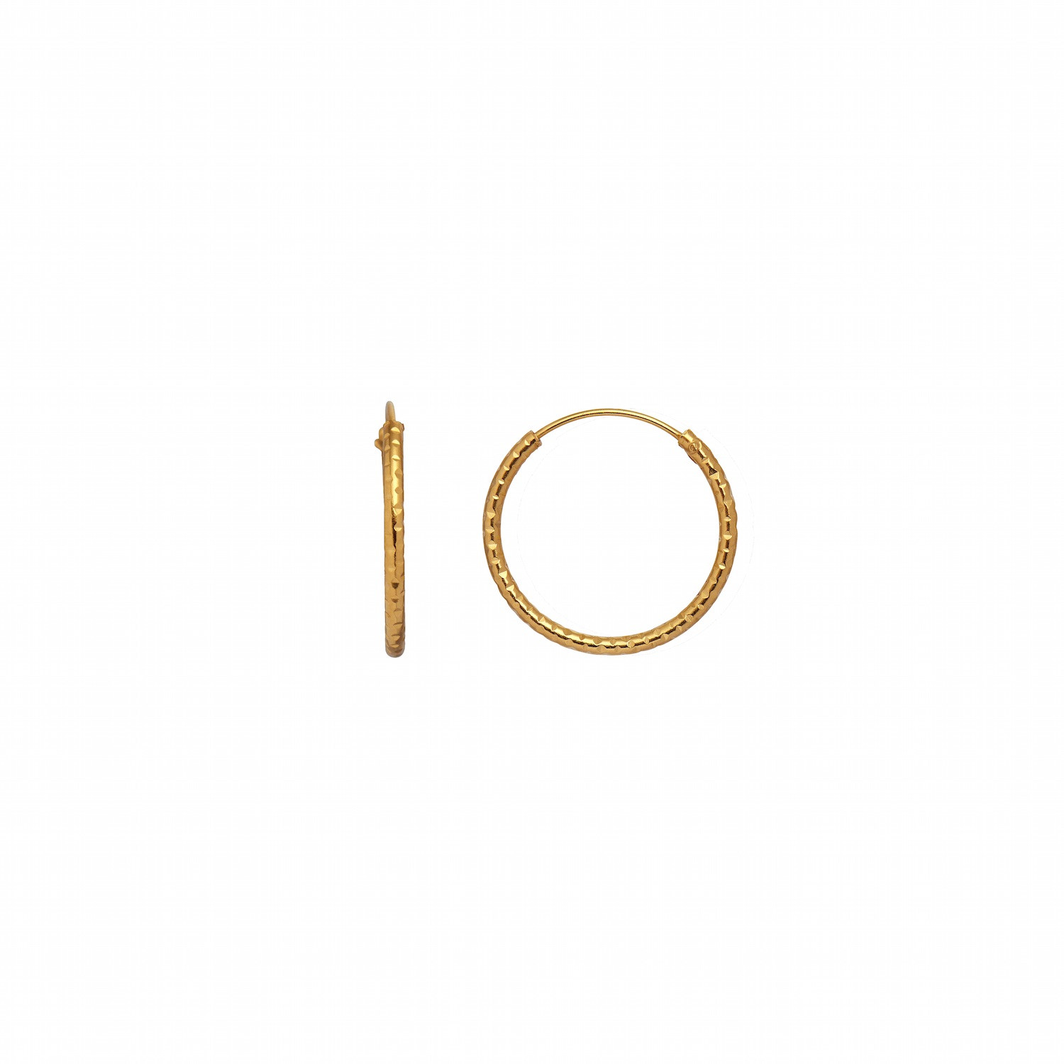 Tinsel Creol Earring Piece Gold